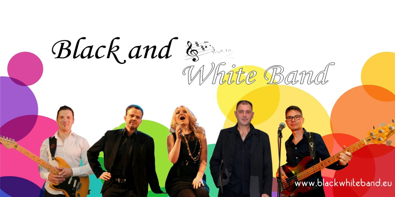 Music Band Black and White
